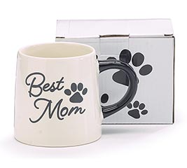 Best Mom Paw Print Mug