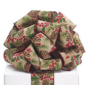 #40 RIBBON WITH PINECONE HOLLY