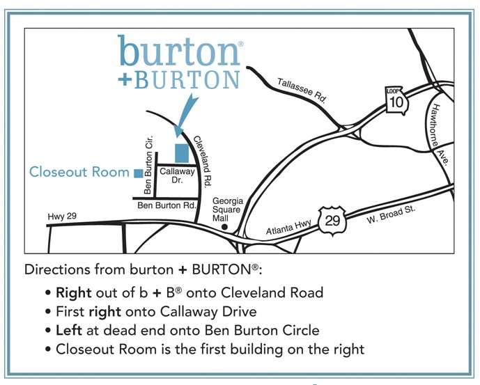 Closeout Room Directions